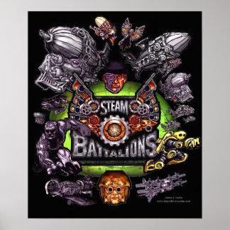 Poster Art d'original de bataillons de vapeur
