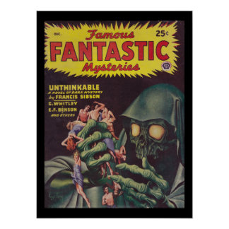 Poster Art fantastique célèbre des mystères 46-12_Pulp