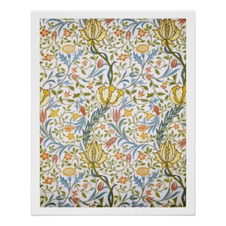 Poster Art floral vintage Nouveau de William Morris Flora