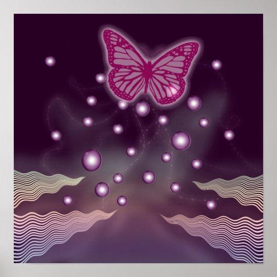 Poster Art magique de mur des affiches | de papillon - gr