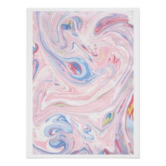 Poster Art moderne élégant en pastel de marbre de luxe de