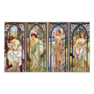 Poster Art Nouveau Windows