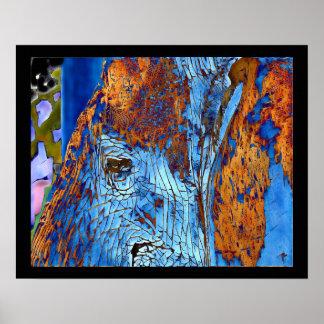 Poster Art numérique original de photo d'oeil d'éléphant