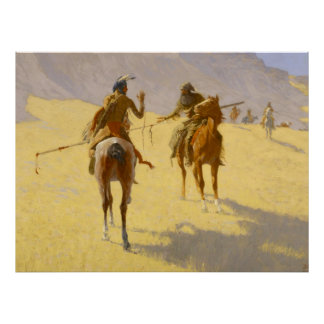 "Poster Art occidental de Frederic Remington ""la"