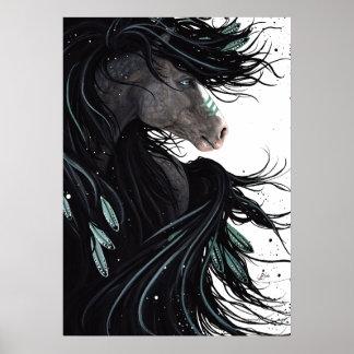 Poster Art rêveur d'affiche de cheval par Bihrle