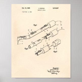 Poster Art vieux Peper de brevet du foret 1965 du