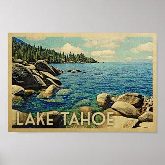 Poster Art vintage de voyage d'affiche du lac Tahoe