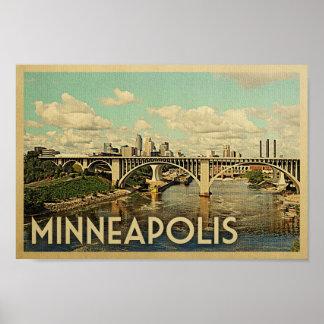 Poster Art vintage Minnesota de voyage d'affiche de