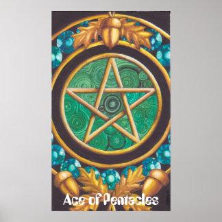 Poster As d'affiche de pentagrammes