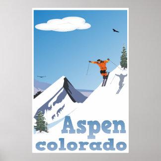 Poster Aspen, le Colorado, montagne rocheuse, affiche de