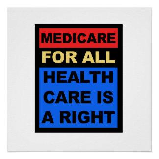 Poster Assurance-maladie pour entièrement des soins de