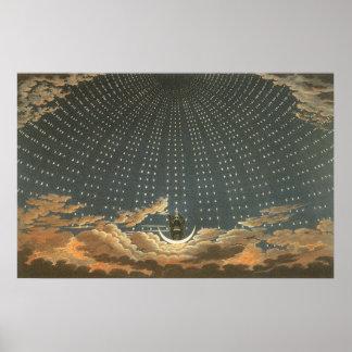Poster Astronomie céleste vintage, reine de la nuit