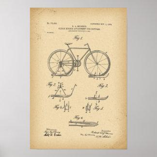 Poster Attachement de coureur de Sleigh de 1904 brevets