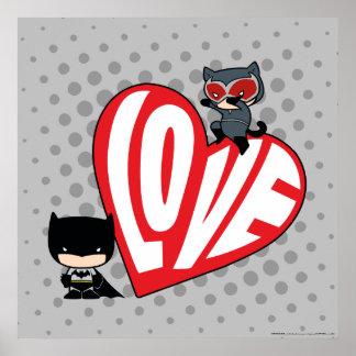 Poster Attaque de Catwoman de Chibi sur Batman 2