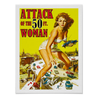 Poster Attaque de la femme de 50 pieds