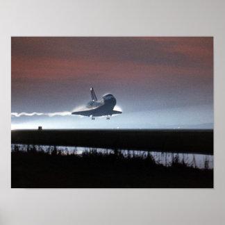 Poster Atterrissage de navette spatiale Colombie (STS-80)