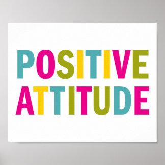 Poster Attitude positive dans des couleurs lumineuses