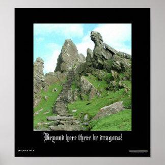 Poster Au delà d'ici il y ait des dragons