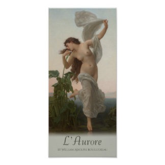 Poster Aube L'aurore de William-Adolphe Bouguereau de