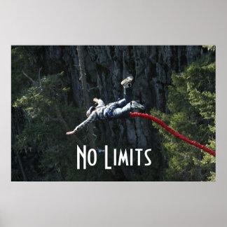 Poster Aucun saut à l'élastique de limites