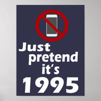 Poster Aucun téléphone portable ne le feignent est