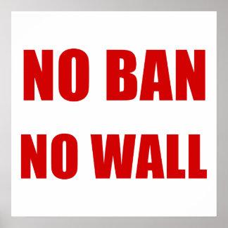 Poster Aucune interdiction, aucun mur