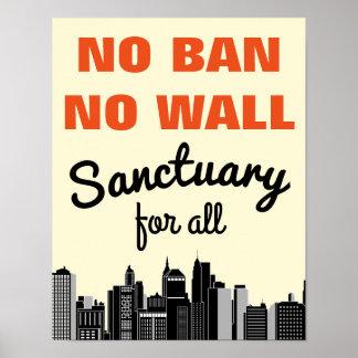 Poster Aucune interdiction aucune interdiction immigrée