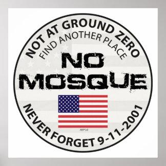 Poster Aucune mosquée à point zéro