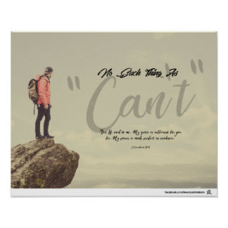 """Poster Aucune une telle chose comme """"ne peut """""""