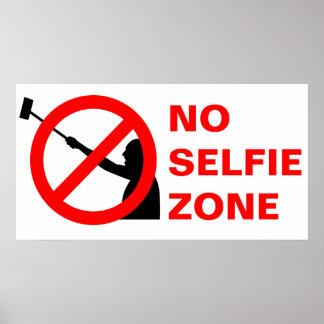 Poster Aucune zone de Selfie