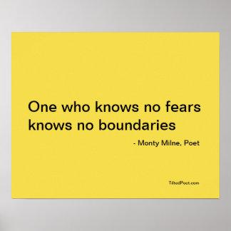 Poster Aucunes craintes - affiche de poésie