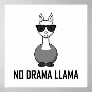 Poster Aucunes lunettes de soleil de lama de drame