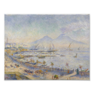 Poster Auguste Renoir - la baie de Naples