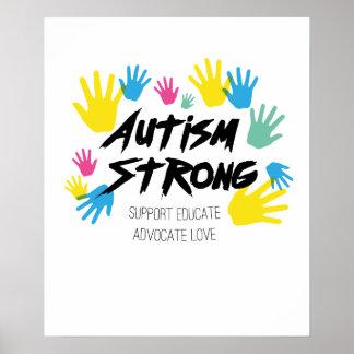 Poster Autisme de sensibilisation sur l'autisme fort