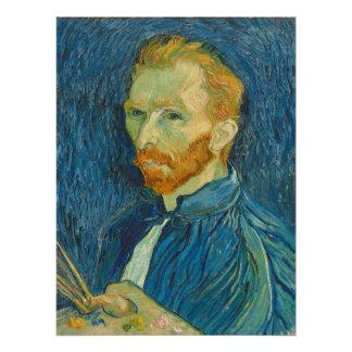 Poster Autoportrait de Vincent van Gogh  , 1889