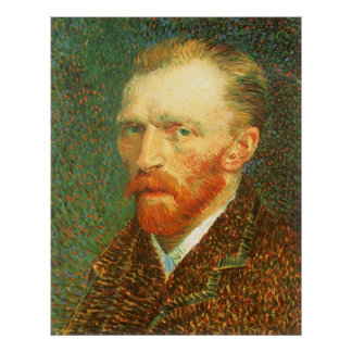 Poster Autoportrait par Vincent van Gogh
