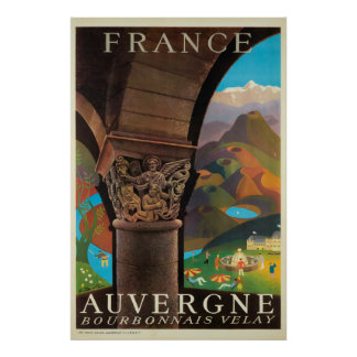 Poster Auvergne, France, affiche de voyage