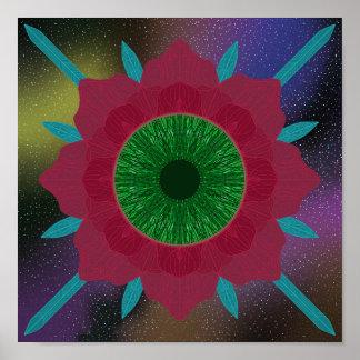 Poster Aux yeux verts s'est levé