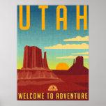 Poster Aventure de l'Utah - conception vintage