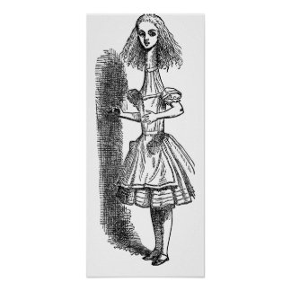 Poster Aventures vintages d'Alice au pays des merveilles