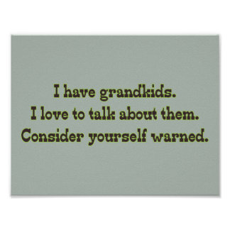 Poster Avertissement des grands-parents