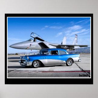 Poster Avion de chasse 1955 classique spécial de voiture