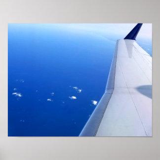 Poster Avion en photo de ciel