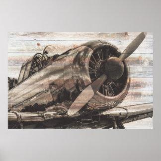 Poster Avion vintage