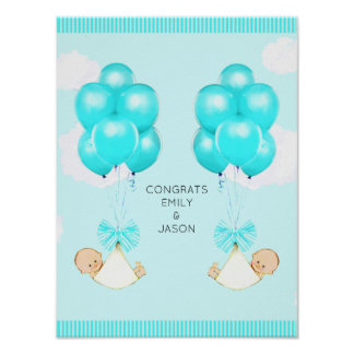 Poster Baby shower Congrats