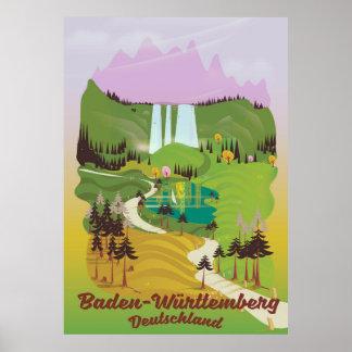 Poster Bade-Wurtemberg deutschland