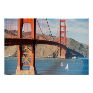 Poster Baie de San Franciso de golden gate bridge de deux