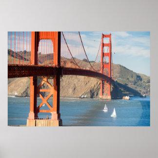 Poster Baie de San Franciso de golden gate bridge de deux