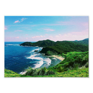 Poster Baie tropicale d'île