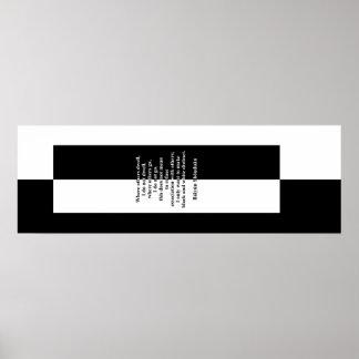 Poster Báiyún noir et blanc